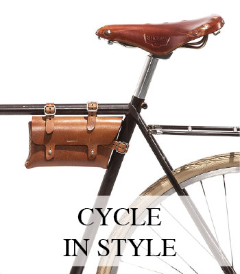LEATHER BICYCLE ACCESSORIES
