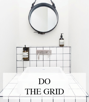INTERIOR DESIGN BLACK AND WHITE GRID PATTERN