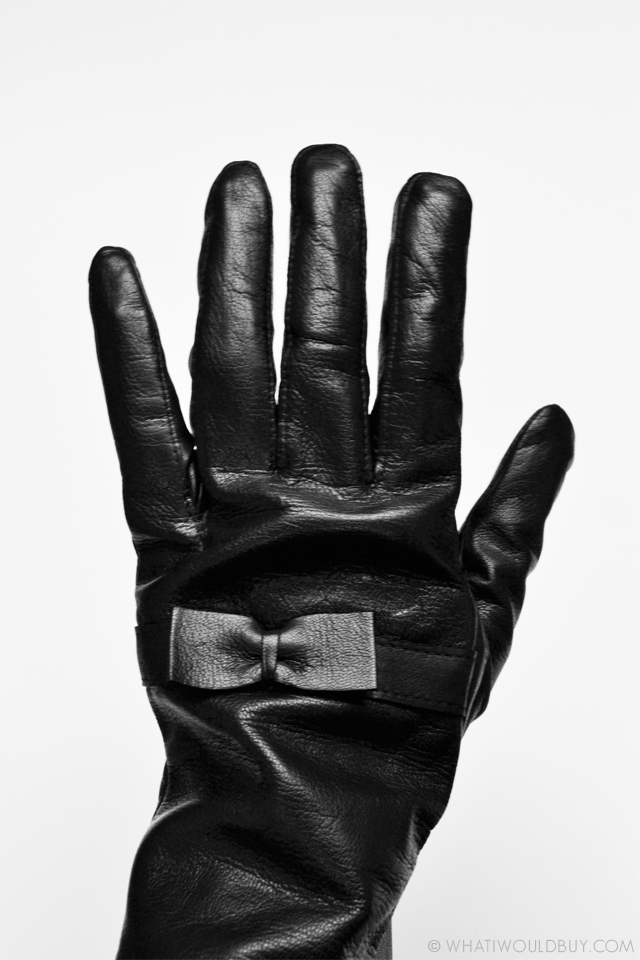 Leather women's gloves 'Tarzo' with bow by Laimbock