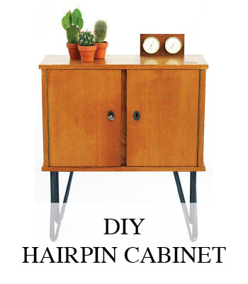 VINTAGE DIY PROJECT STEEL HAIRPIN CABINET