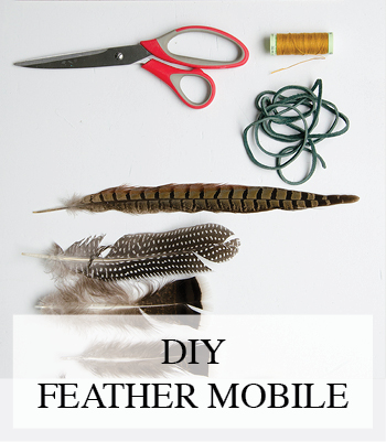 DIY – FEATHER MOBILE FOR THE BABY NURSERY