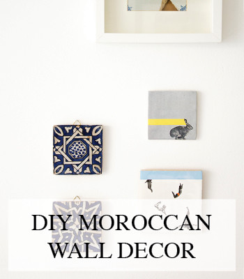 MOROCCAN INTERIOR WALL DECORATION DIY – INTERIEUR DIY MUUR DECORATIE
