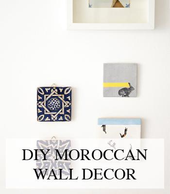 MOROCCAN INTERIOR WALL DECORATION DIY – INTERIEUR DIY MUUR DECORATIE