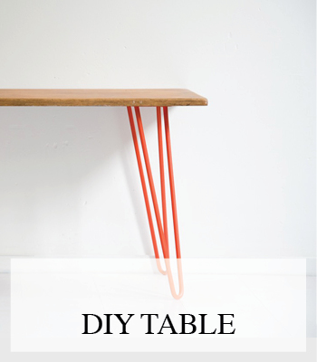 INTERIOR DIY PROJECT – MAKE A NEW TABLE WITH INDUSTRIAL STEEL HAIRPIN LEGS