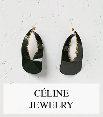 CÉLINE GOLD AND BRASS JEWELLERY FOR FALL 2015