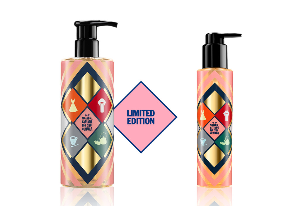 Maison Kitsune X Shu Uemura Limited Edition Shampoo and Hair Oil
