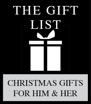 THE GIFT LIST FOR CHRISTMAS 2015 – A GIFT GUIDE WITH CHRISTMAS HOLIDAY GIFTS FOR HIM AND HER
