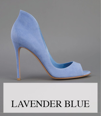 LAVENDER AND BABY BLUE SUEDE BOOTS, PUMPS AND FLATS FOR SPRING SUMMER