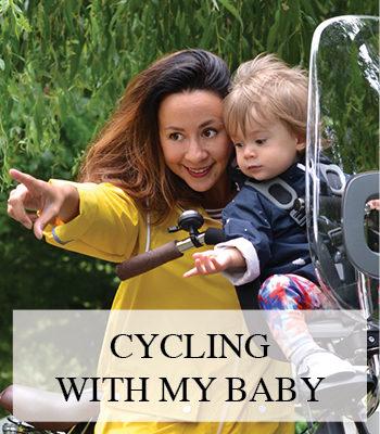 CYCLING WITH A BABY IN A BOBIKE CHILD BIKE SEAT – VEILIG MET BABY OP DE FIETS IN EEN BOBIKE ONE MINI FIETSSTOELTJE