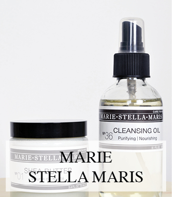 MARIE STELLA MARIS NATURAL BEAUTY PRODUCTS CLEANSING OIL AND ORGANIC SHEA BUTTER