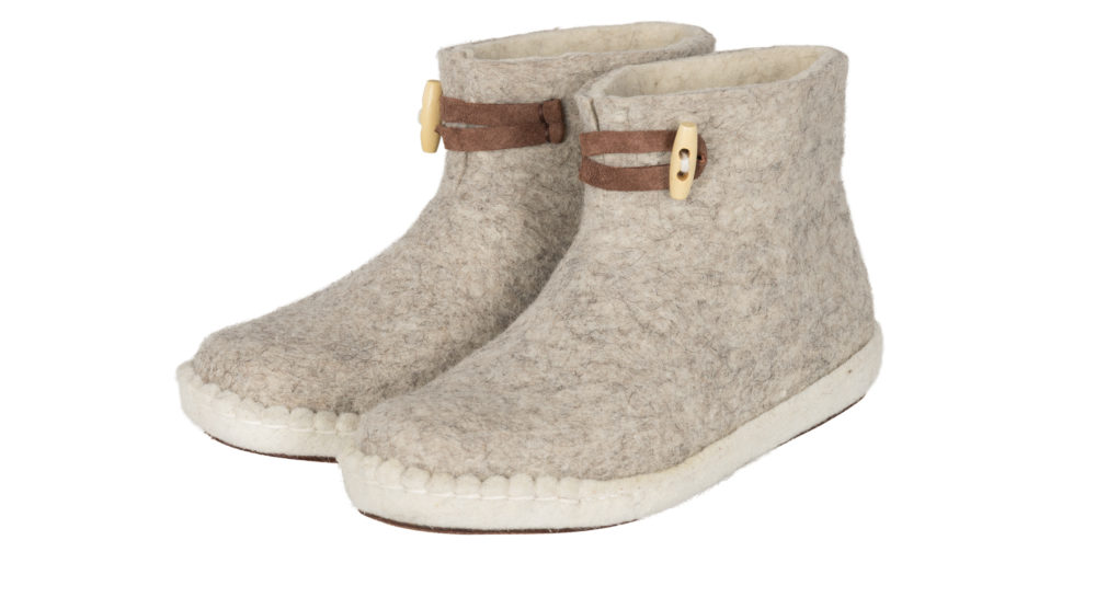 ESGii Felt Women's Boots in Light Grey