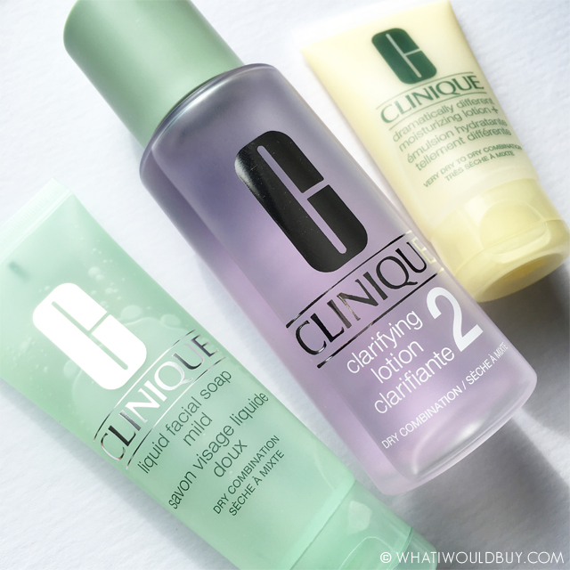 CLINIQUE 3 step skin care routine