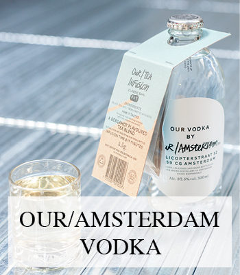 OUR AMSTERDAM VODKA FROM OUR/VODKA ARTISAN SPIRITS MADE IN MICRO DISTILLERIES IN BIG CITIES ACROSS THE WORLD