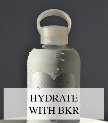 HYDRATE YOUR SKIN FROM WITHIN AND DO IT IN STYLE WITH A BKR DESIGN GLASS WATER BOTTLE