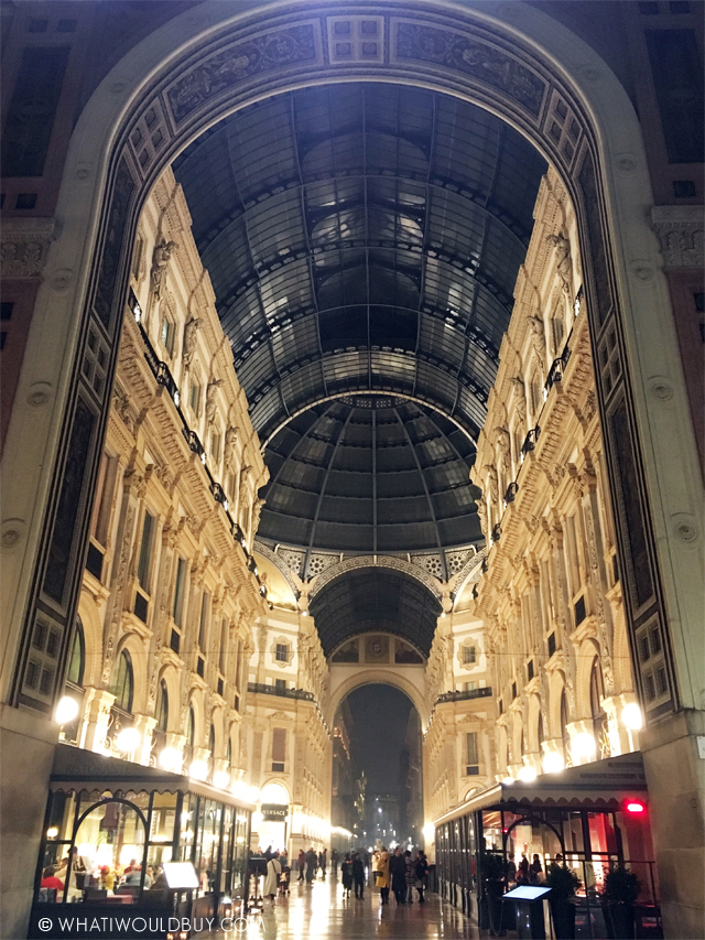 Galleria Vittorio Emanuele - MIDO Milan Press Trip - Photography by Danique Bauer / © WhatIWouldBuy