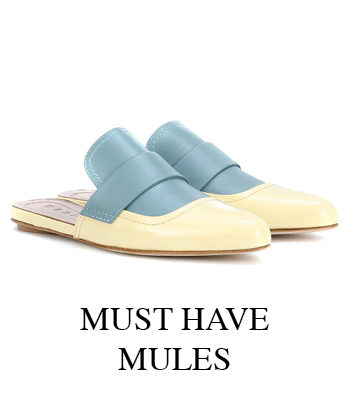 MUST HAVE LEATHER AND SUEDE MULES FROM MARNI TODS AND GANNI FOR THE COOLEST STREET STYLE LOOKS