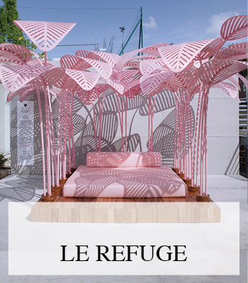 MARC ANGE LE REFUGE PINK DESIGN DAYBED AT MILAN DESIGN WEEK
