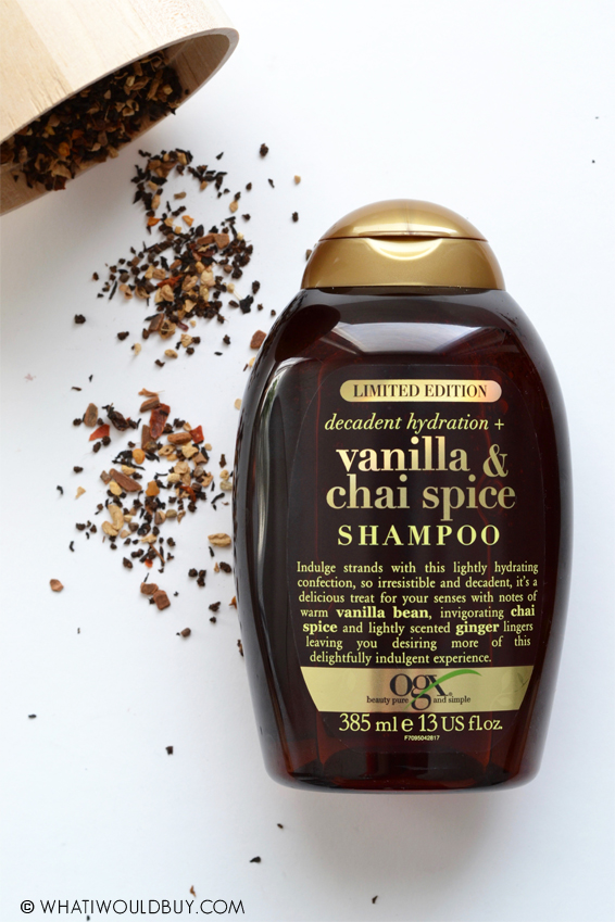 OGX Vanilla & Chai Spice Shampoo + Conditioner by whatiwouldbuy.com