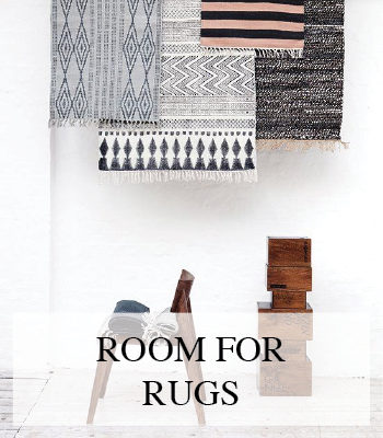 TEXTURED AND PATTERNED RUGS FOR A BOHEMIAN CHIC OR CLEAN MINIMALIST SCANDINAVIAN INTERIOR
