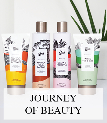ETOS JOURNEY OF BEAUTY WELLNESS PRODUCTEN MET BAOBAB & MARULA OIL WHITE TEA & RICE MANUCA HONEY & BEESWAX GUAVA & PINEAPPLE