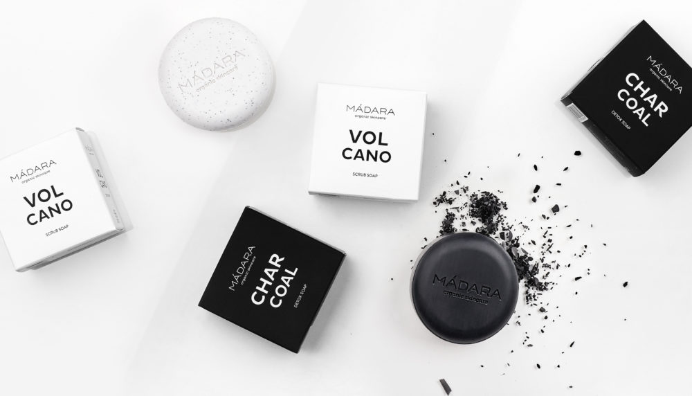 MADARA Volcano & Charcoal Soap Bars