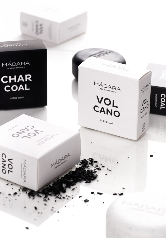 MADARA Volcano & Charcoal Soap Bars